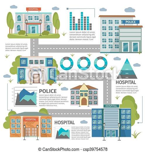 Plano, edificios, infographic. Infographic, plano, edificios ...