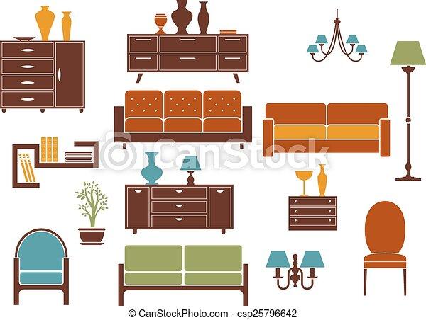 Plano elementos dise o interior hogar muebles dise o for Mueble animado