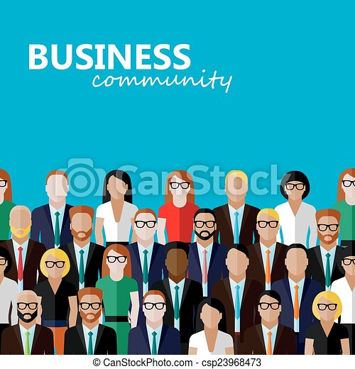 Ilustración plana del vector de negocios o comunidad política. A l - csp23968473