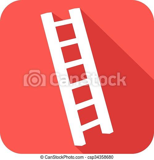 Icono plano de escalera - csp34358680