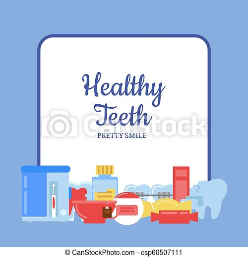 Íconos de higiene dental de Vector - csp60507111