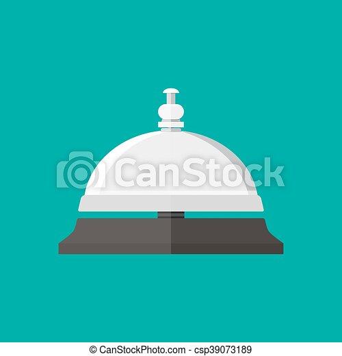 Campana de servicio de recepción al estilo plano - csp39073189