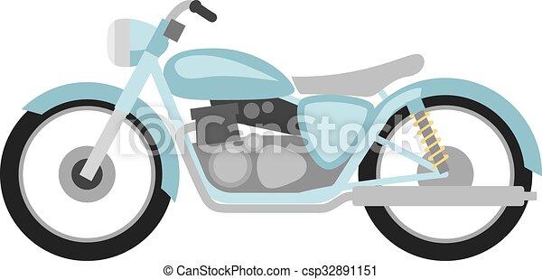 Estilo plano motocicleta retro - csp32891151