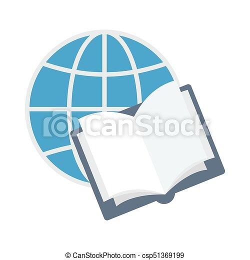Icono plano de estudio en línea - csp51369199