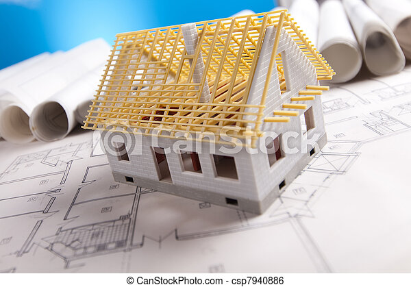 plano, ferramentas, arquitetura, & - csp7940886