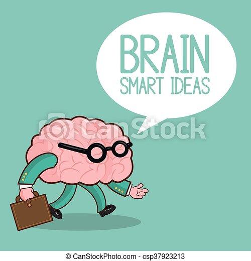 Plano, gráfico, órgano, ilustración, cerebro, vector, icon.,... clip ...
