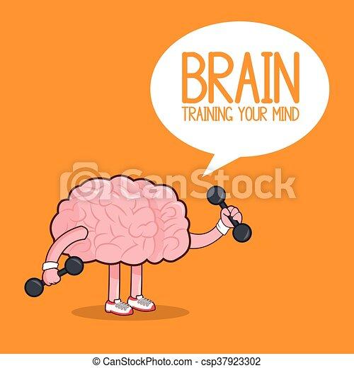 Plano, gráfico, órgano, ilustración, cerebro, vector, icon ...