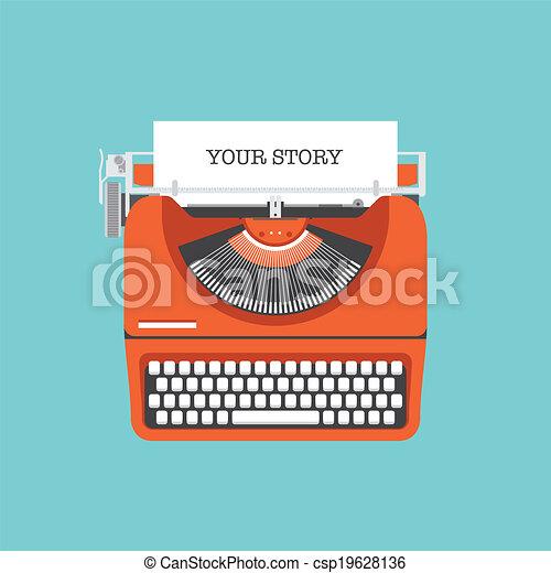 plano, historia, acción, su, ilustración - csp19628136