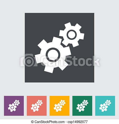 Un icono plano. - csp14992077