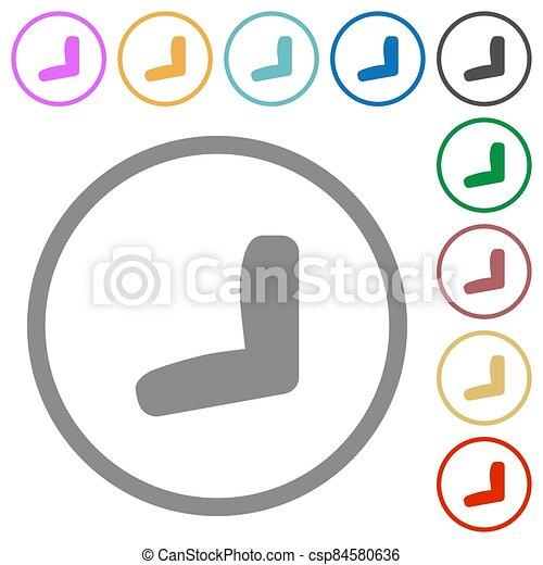 plano, iconos, asiento, contornos, coche - csp84580636