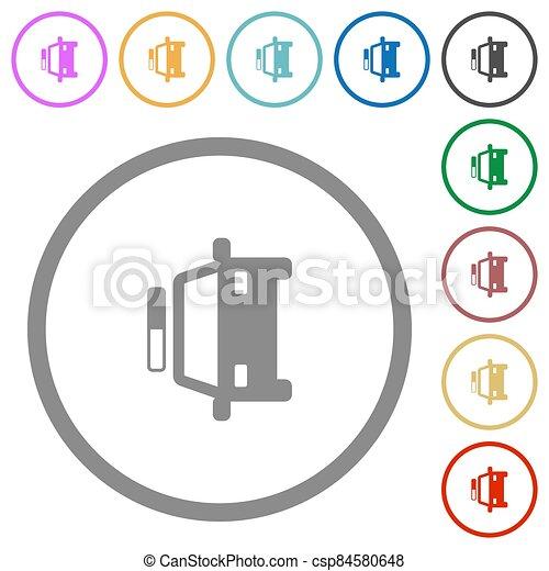 plano, iconos, contornos, patrullero - csp84580648