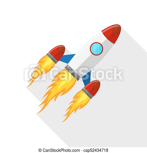 Plano, illustration., vector, icono, nave espacial, design. Plano ...