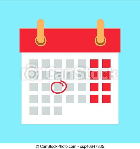 Calendario Vectores.Plano Ilustracion Vector Calendario Caricatura Importante Date