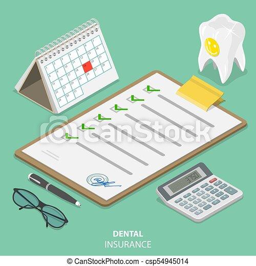 El concepto de vector de vector idítrico del seguro dental. - csp54945014