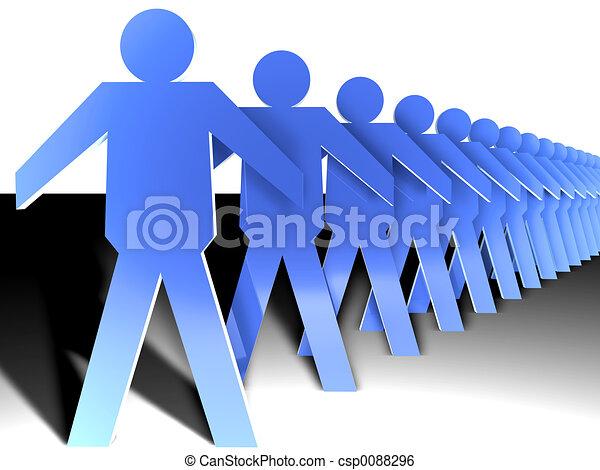 La multitud de chicos planos - csp0088296