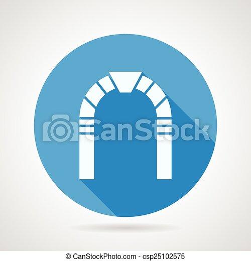 El arco de piedra icono vector plano - csp25102575