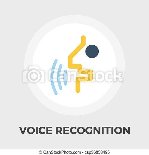 icono de reconocimiento de voz plano - csp36853495