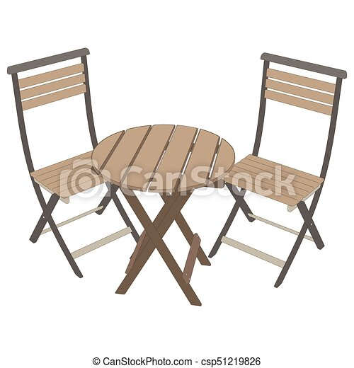Vector de café de la mesa. Ilustración de icono - csp51219826