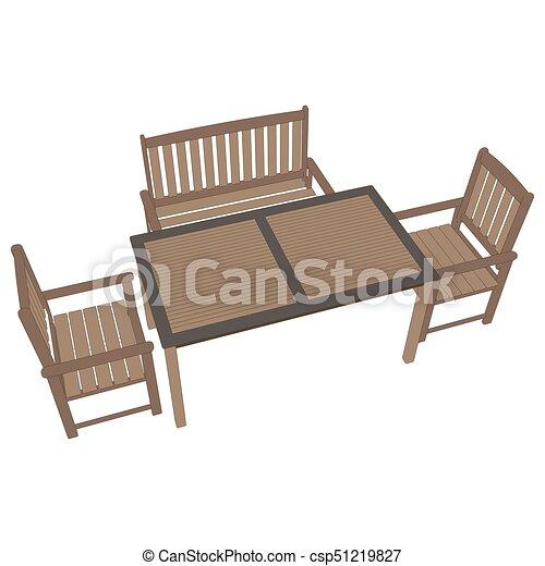 Vector de café de la mesa. Ilustración de icono - csp51219827