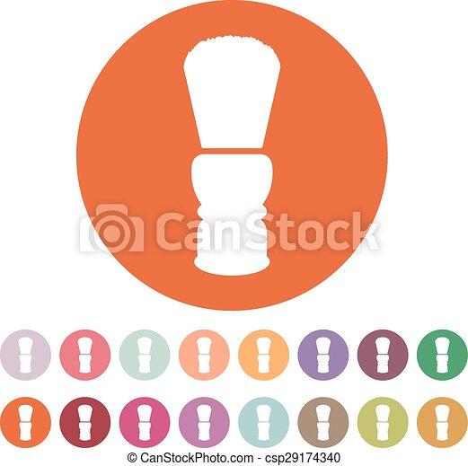 El icono del cepillo de afeitar. El símbolo de Shaver. Plano - csp29174340