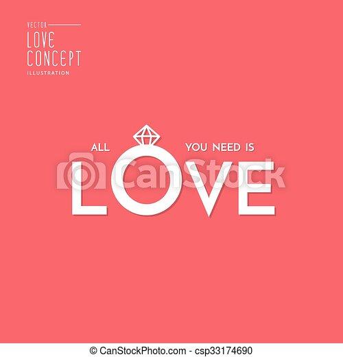 Plano Sobre Amor Otro Diseño Vector Invitación Tipo
