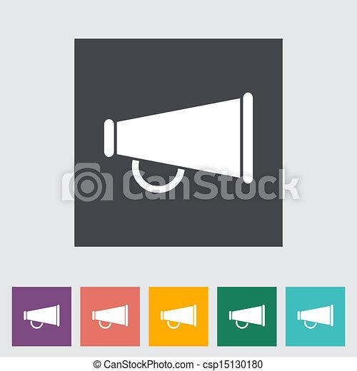 Un icono plano de Horn. - csp15130180