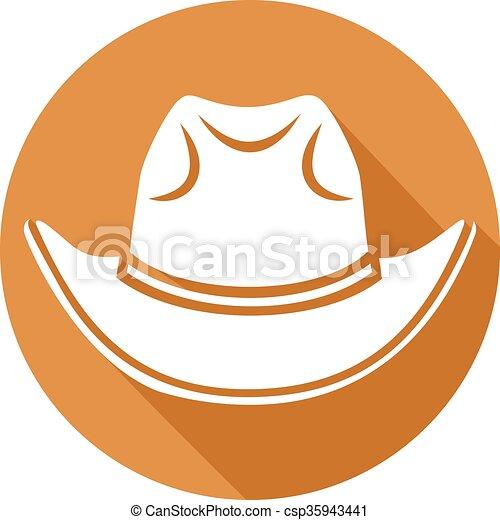 El icono del sombrero de vaquero - csp35943441