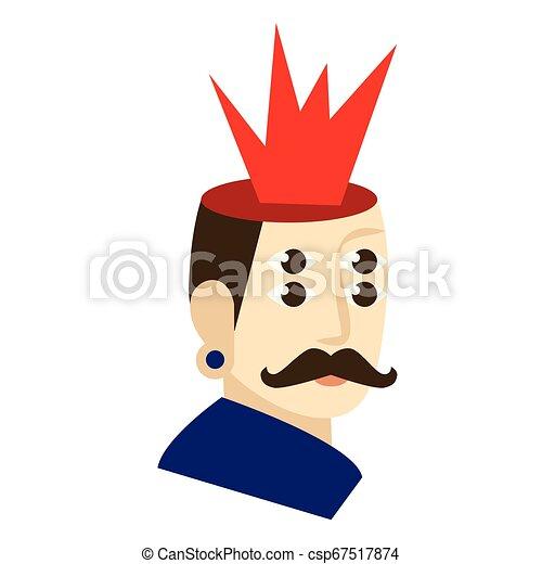 Hombre con la mente soplando ilustraciones planas en blanco - csp67517874
