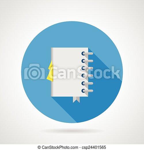 Icono vector plano para el cuaderno de oficina - csp24401565