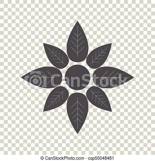 Vector de icono floral plano - csp55048481