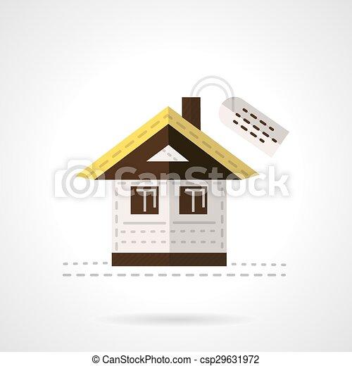 Casa en venta icono vectorial - csp29631972