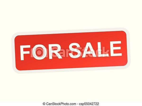 Para vender ícono vectorial - csp55042722