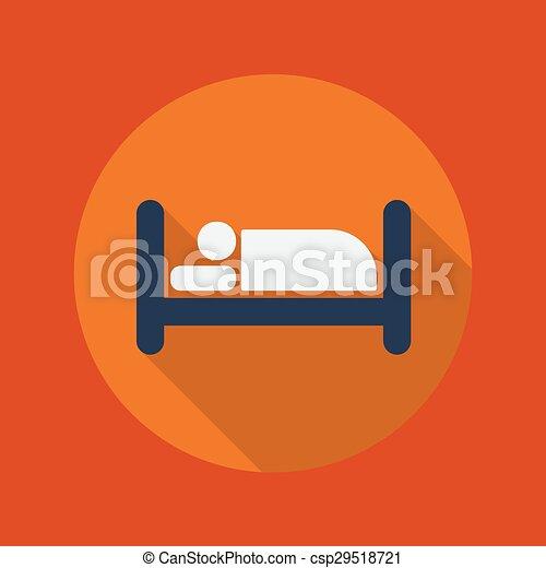 Viaje icono plano. Hotel - csp29518721
