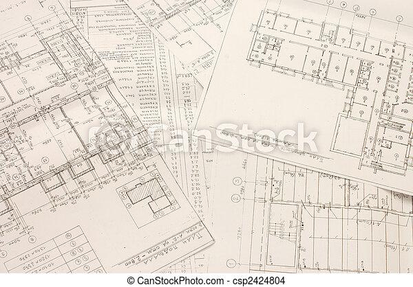 planos, arquitectónico - csp2424804