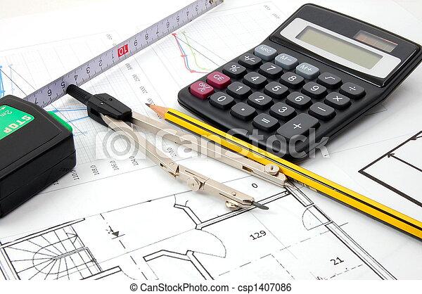 planos, arquitetura - csp1407086