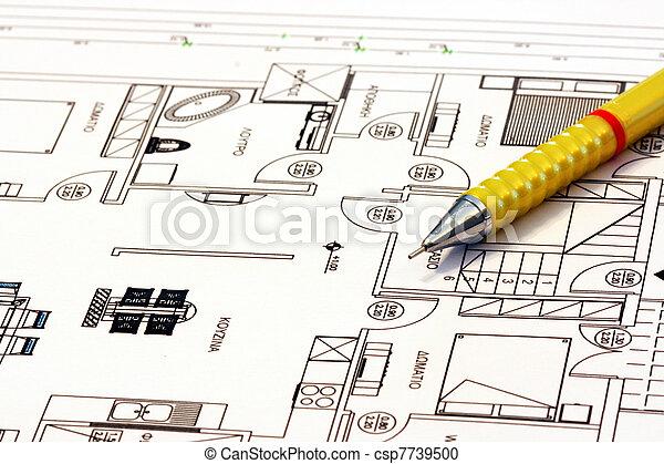 planos, lar, arquitetura - csp7739500