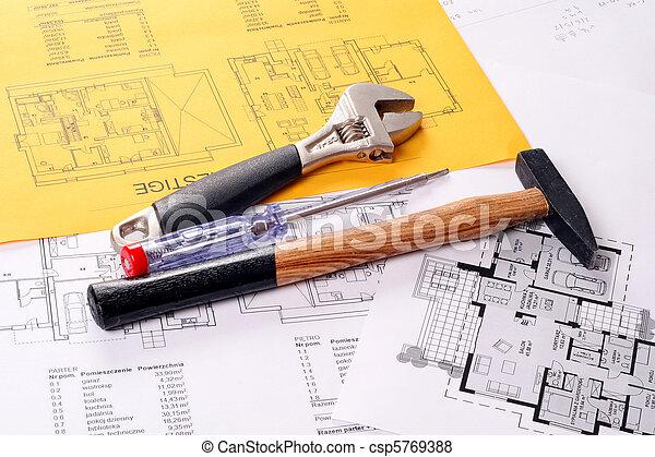 planos, martillo - csp5769388