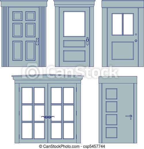 Los planos de la puerta - csp5457744