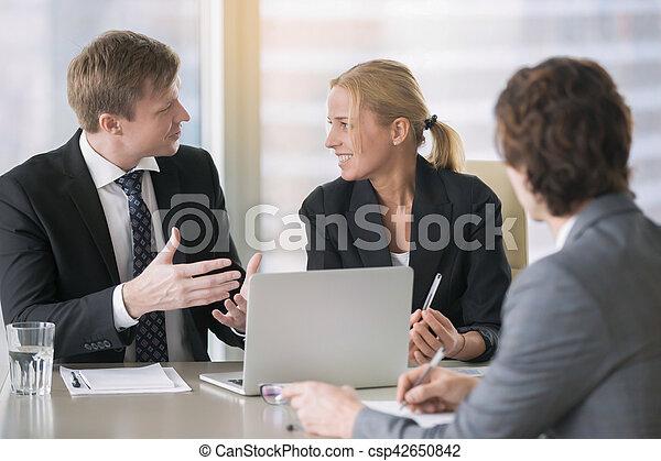 planowanie, praca, businesspeople - csp42650842