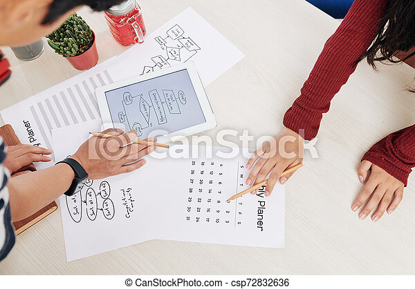 planowanie, praca, millenials - csp72832636
