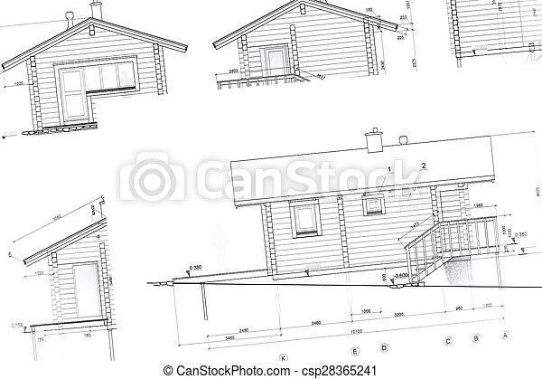 Plans Dessins Architecture Developpement Modeles Architectural Maison Logement Plan Fond Nouveau Canstock