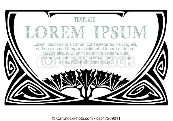plant border nature frame vector template vector template advertisements flyer web wedding and other invitations or can stock photo