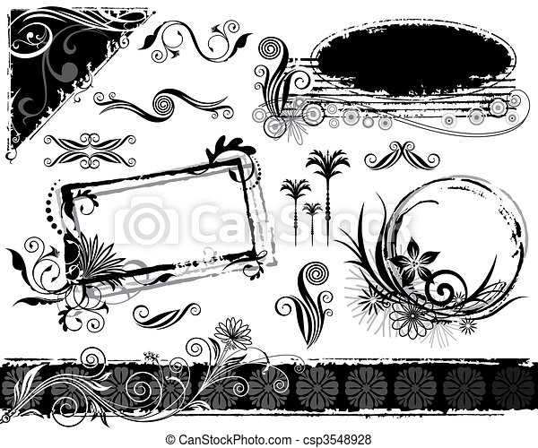 Plant Decorations Set - csp3548928