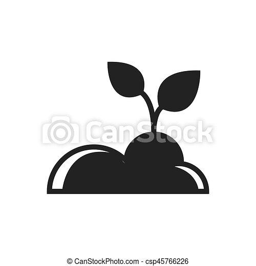 plant Farm icon black color - csp45766226