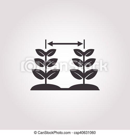 plant icon on white background - csp40631060