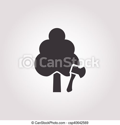 plant icon on white background - csp40642569