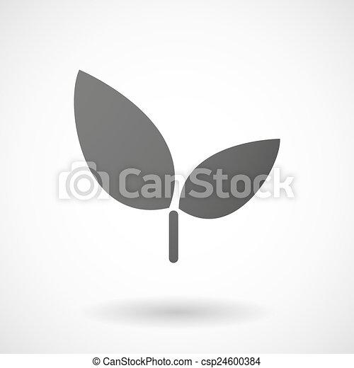 plant icon on white background - csp24600384
