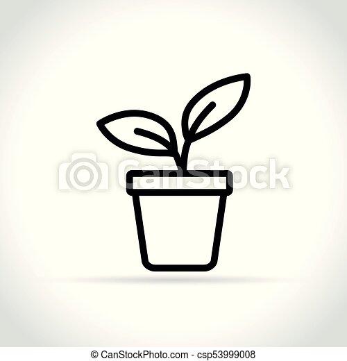 plant icon on white background - csp53999008