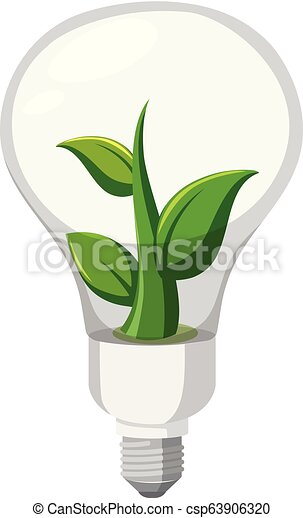 Plant in a light bulb - csp63906320