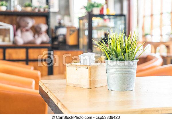 plant in pot decoration - csp53339420